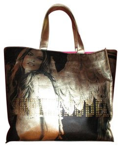 Victoria's Secret Tote in black & gold