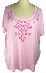 Woman Within Plus Size Fashions Embroidered Top