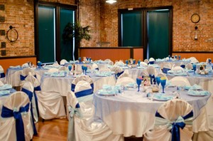 70 Light Blue Satin Chair Sashes