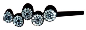 designer hugh end crystal hair pin