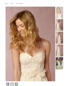 Jenny Yoo Ivory Orayon Polyester Nylon Blend; Nylon Spandex Lining Beaded Strapless Bustier Feminine Wedding Dress Size 12 (L)