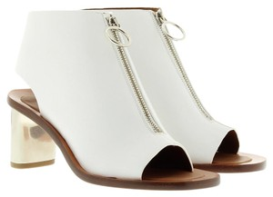 Céline Open Toe Bootie Boot Leather Optic White Sandals