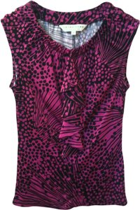 Trina Turk Top Bright Pink Black