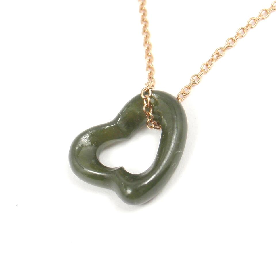 Tiffany co elsa peretti carved green jade open heart gold chain tiffany co elsa peretti carved green jade open heart gold chain necklace tradesy aloadofball Gallery