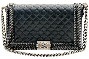 Chanel Boy Le Boy Le Boy Triple Chain Shoulder Bag