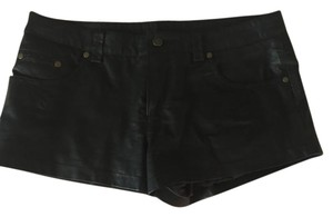 Free People Faux Leather Dress Shorts Black