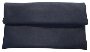 Street Level Faux Leather Dark Blue Clutch