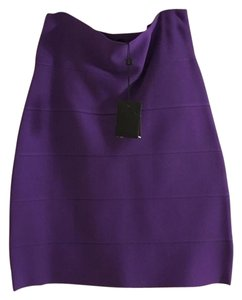 BCBGMAXAZRIA Bandage Mini Evening Nwt Mini Skirt purple