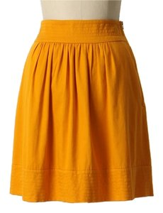 Anthropologie Vintage Anthro Gold Goldenrod Odille Thousand Days Great Escape Skirt Yellow