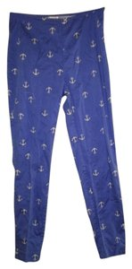 Forever 21 Ankle Anchors Capri/Cropped Pants blue and white