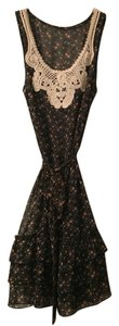 Anthropologie short dress Black floral on Tradesy