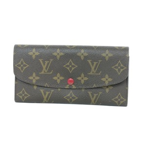 Louis Vuitton Louis Vuitton Emilie Wallet with Red