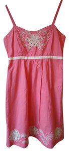 Anthropologie short dress Pink Embroidered on Tradesy