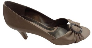 Naturalizer N5 Comfort Elements Peep Toe Taupe Pumps