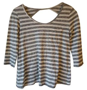 Anthropologie Stripe Pocket Cotton Blend T Shirt