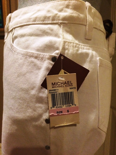 Michael Kors Greenwich Fit Size Studding Boot Cut Jeans-Light Wash