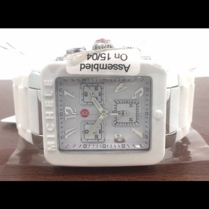 Michele NWT Michele Park Jelly Bean White Silicone Watch MWW06L000001