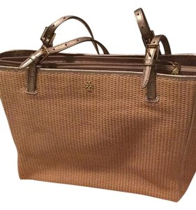 Tory Burch Tote in Natural & Gold