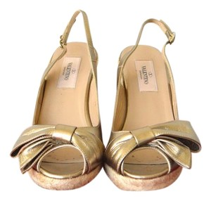 Valentino Heels Gold Wedges