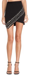 Lovers + Friends Asymmetrical Mini Mini Skirt black