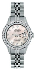 Rolex LADIES ROLEX DATEJUST 1.3CT DIAMOND S/S WATCH WITH ROLEX BOX&APPRAISAL