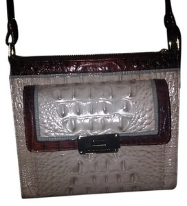Brahmin Leather Snakeskin Shoulder Bag