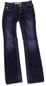 Big Star Remy Low Rise Boot Cut Jeans-Dark Rinse