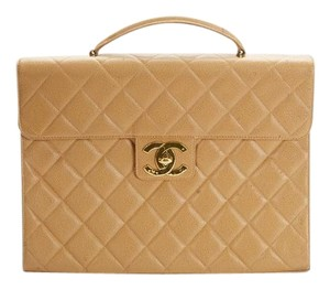 Chanel Caviar Leather Caviar Briefcase Vintage Laptop Bag
