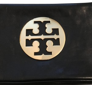 Tory Burch Clutch Leather Logo Reva Shoulder Bag