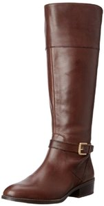 Ralph Lauren Leather Calfskin Knee High Brown Boots