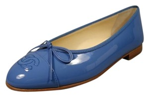 Chanel Ballerina Bright Blue Flats