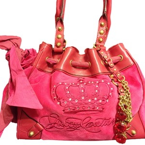 Juicy Couture Vintage Velour Tote in Pink