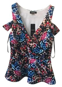 bebe Cut-out Top Multicolored