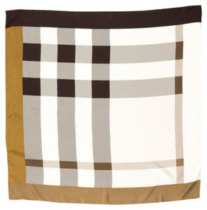 Burberry Brown Multicolor Silk Burberry Scarf