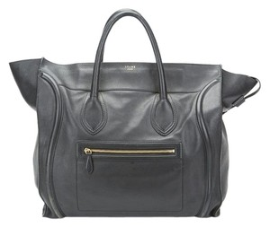 Céline Luggage Leather Celine Black Travel Bag