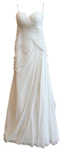 Essense of Australia Off-white Chiffon #5908 Formal Wedding Dress Size 8 (M)