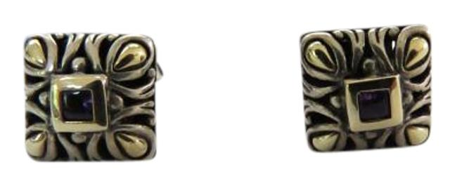 Item - Silver/Gold/Amethyst Sukhothai Collection Ss/18k Earrings