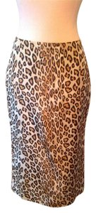 Alexander McQueen Leopard Print Pencil Skirt Brown and black