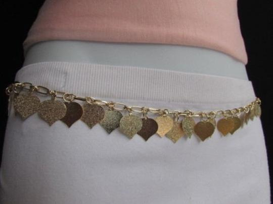 Alwaystyle4you Women Waist Hip Gold Metal Chains Hearts Leaves Fashion Belt Image 3