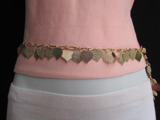 Alwaystyle4you Women Waist Hip Gold Metal Chains Hearts Leaves Fashion Belt Image 4