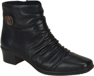 Rieker Leather Ankle Black Boots