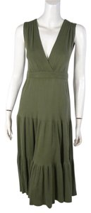 Diane von Furstenberg short dress green Dvf Tiered Sleeveless Modal on Tradesy
