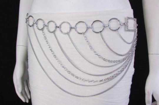 Alwaystyle4you Women Silver Gold Metal Chain Fashion Belt Multi Strand Circle Image 1