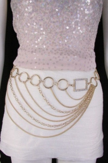 Alwaystyle4you Women Silver Gold Metal Chain Fashion Belt Multi Strand Circle Image 10