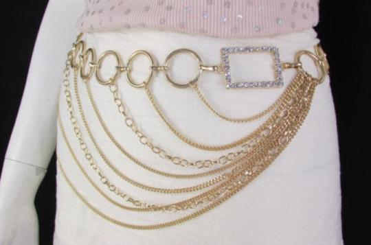 Alwaystyle4you Women Silver Gold Metal Chain Fashion Belt Multi Strand Circle Image 11
