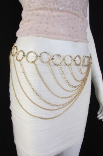 Alwaystyle4you Women Silver Gold Metal Chain Fashion Belt Multi Strand Circle Image 2