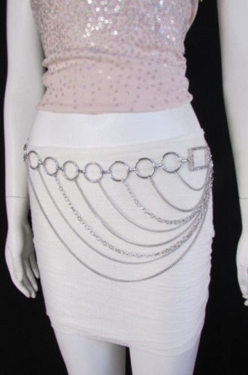Alwaystyle4you Women Silver Gold Metal Chain Fashion Belt Multi Strand Circle Image 3