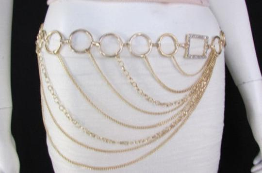Alwaystyle4you Women Silver Gold Metal Chain Fashion Belt Multi Strand Circle Image 4