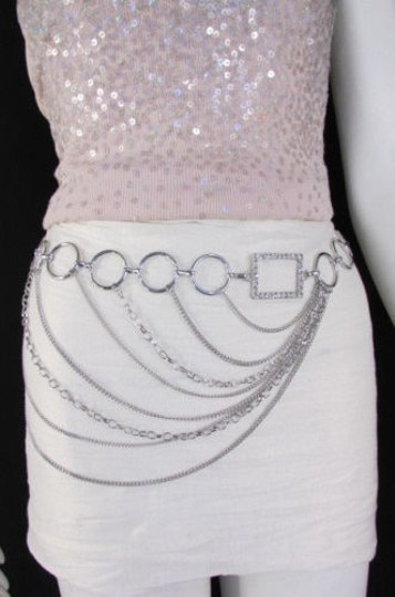 Alwaystyle4you Women Silver Gold Metal Chain Fashion Belt Multi Strand Circle Image 6