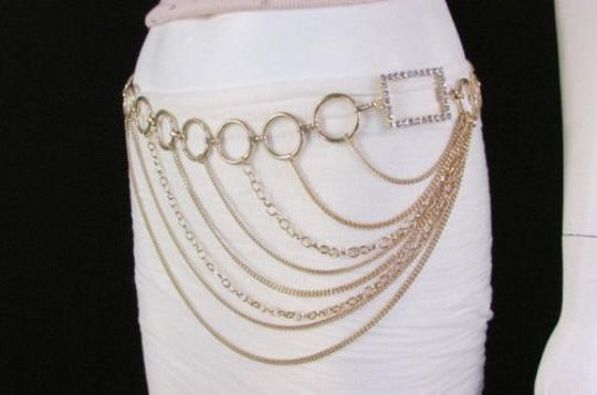 Alwaystyle4you Women Silver Gold Metal Chain Fashion Belt Multi Strand Circle Image 9